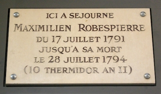 Robespierre rue St Honoré